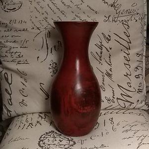 """10"""" Wooden Vase"""